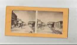 PORT AU PRINCE (HAITI) PHOTO STEREOSCOPIQUE ANCIENNE RUE ANIMEE - Fotos Estereoscópicas