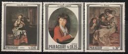PARAGUAY - Poste Aérienne N°473/5 ** (1967) Tableaux - Paraguay
