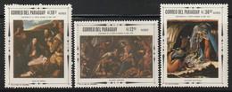 PARAGUAY - Poste Aérienne N°485/7 ** (1967) Tableaux - Paraguay