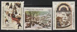 PARAGUAY - Poste Aérienne N°491/3 ** (1968) Tableaux - Paraguay