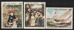 PARAGUAY - Poste Aérienne N°494/6 ** (1968) Tableaux + J.O De Mexico - Paraguay
