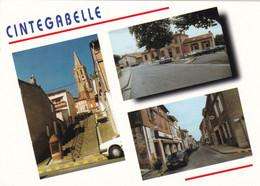 31. CINTEGABELLE. CPM.  MULTIVUES. 3 VUES DU VILLAGE - Other Municipalities