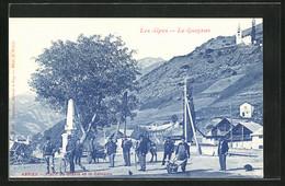 CPA Abriès, Place Du Glacis Et Le Calvaire - Zonder Classificatie