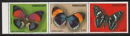 PARAGUAY - Poste Aérienne N°634/6 ** (1973) Papillons - Paraguay