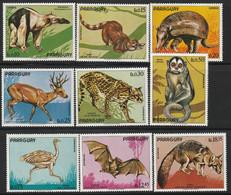 PARAGUAY - N°1272/8+Poste Aérienne N°632/3 ** (1973) Animaux - Paraguay