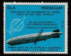 PARAGUAY - Poste Aérienne N°708 ** (1975) Graf Zeppelin - MUESTRA - - Paraguay