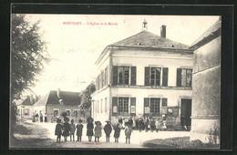 CPA Montigny, L`Eglise Et La Mairie - Zonder Classificatie