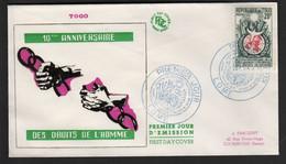 Togo  LOME  FDC  10 Décembre 1958 Déclaration Universelles Des Droits De L'Homme - Togo (1960-...)