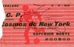 SPORTING CLUBE DE PORTUGAL V COSMOS DE NEW YORK -com Rubrica?-1980 - Tickets - Entradas