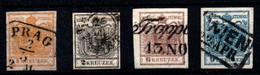 Austria Nº 1/2, 4/5. Año 1850. - Usados