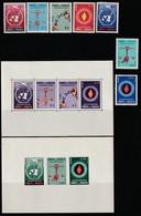PARAGUAY - N°581/4+PA N°261/3+2 Blocs N°3/4 ** (1960) Droits De L'homme - Paraguay