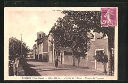 CPA Ribiers, L`entrée Du Village, Avenue De Provence - Zonder Classificatie