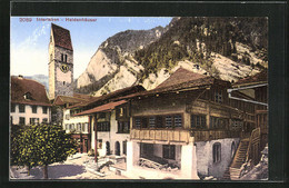 AK Interlaken, Heldenhäuser Mit Kirchturm - BE Berne