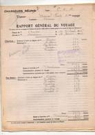 """Rapport Général Du Voyage Vapeur """"Amiral Ponty"""" Chargeurs Réunis Ligne C.O.A Du Capitaine Connen Départ Anvers 1926 - Boten"""