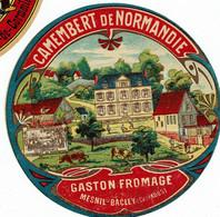 "Et. Camembert De Normandie "" Gaston Fromage Mesnil Bacley "" - Kaas"