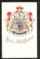 Präge-AK Waldeck, Wappen Des Fürstenhauses Von Waldeck-Pyrmont - Königshäuser