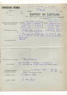 """Rapport Du Capitaine Vapeur """"Cérès"""" Chargeurs Réunis à Grand Bassam Le 19 Juin 1913 - Format : 21.5x27.5 Cm Soit 4pages - Boten"""