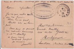OCCUPATION EN ALLEMAGNE - 1923 - CARTE FM De La REGIE DES CHEMINS DE FER DES TERRITOIRES OCCUPES ! SP 96 => MONTGERON - Militaire Stempels Vanaf 1900 (buiten De Oorlog)