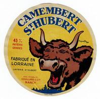 Et. Camembert ST HUBERT (signée Benjamin Rabier) - Laiter. St Hubert Anc. Ets Couillart - Lorraine - Kaas