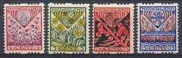 Nederland 1927 Roltanding 78/81 Postfris/MNH Tweezijdige Roltanding, Syncopated, Rollenzahnung, Kinderpostzegels - Heftchen Und Rollen