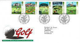 Great Britain 1994 Golf FDC - 1991-2000 Decimal Issues