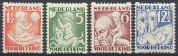 Nederland 1930 Roltanding 86/89 Postfris/MNH Tweezijdige Hoekroltanding, Syncopated, Rollenzahnung, Kinderpostzegels - Heftchen Und Rollen