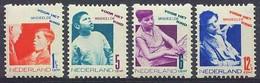 Nederland 1931 Roltanding 90/93 Postfris/MNH Tweezijdige Hoekroltanding, Syncopated, Rollenzahnung, Kinderpostzegels - Heftchen Und Rollen