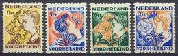 Nederland 1932 Roltanding 94/97 Postfris/MNH Tweezijdige Hoekroltanding, Syncopated, Rollenzahnung, Kinderpostzegels - Heftchen Und Rollen