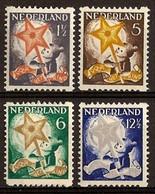 Nederland 1933 Roltanding 98/101 Postfris/MNH Tweezijdige Hoekroltanding, Syncopated, Rollenzahnung, Kinderpostzegels - Heftchen Und Rollen