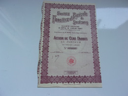 FONCIERE ET RIZICOLE DE SOCTRANG (1929) SAIGON,COCHINCHINE - Unclassified