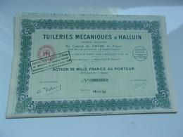 TUILERIES MECANIQUES D'HALLUIN (nord) - Unclassified