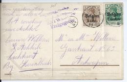 Fantasiekaart Met BZ 2-11 Verstuurd Van Lichtaert - Afstempeling THIELEN - [OC1/25] Gen.reg.