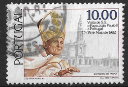 Portugal – 1982 Pope John Paul II 10.00 Used Stamp - Used Stamps