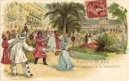 Illustrateur  CARNAVAL DE NICE  Bataille De CONFETTI  Pionnière RV - Carnaval