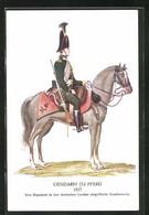 AK Gendarm Zu Pferd Um 1827 - Policia – Gendarmería