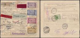 Chemin De Fer - TR144, 146, 163 Et 166 Sur Bulletin D'expédition Expres, Urgent De Vieux-Dieu > Kaunas / Réexpédition - 1923-1941