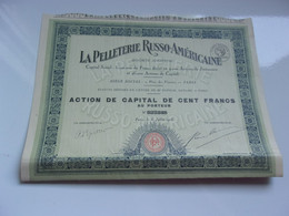 LA PELLETERIE RUSSO AMERICAINE (1926) - Unclassified
