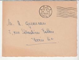 Carte Invitation Avec Cachet P.P. Paris, 1948 / Exposition Peintures Czobel, Galerie Beaux Arts - Cartas
