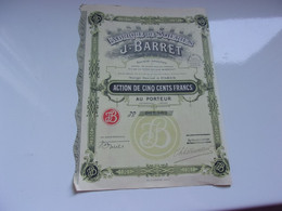Fabrique De Soieries J. BARRET (tissages Du Val D'ainan) 1929 - Unclassified