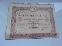 S.A.M.U. Auxiliaire De Materiels D'usines (capital 1 Million) 1922 - Unclassified