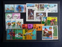 (5) LOT OLYMPIC GAMS DIV COUNTRY'S MNH - Andere
