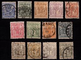 LUXEMBOURG - N°  47/58 (*) - Série Allégories De 1882. (le 50c*/1F* Papier Collé) - 1882 Alegorias