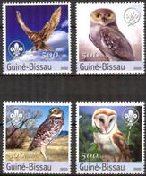 Guinea - Bissau 2003 Birds Owls Scouts Set Of 4 MNH** Mi.:2041/4 - Guinea-Bissau