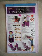 Avion / Airplane / THAI / Airbus A330 / Safety Card / Consignes De Sécurité - Veiligheidskaarten
