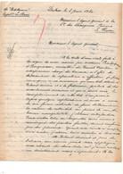 """Courrier à L'agent Général Compagnie Des Chargeurs Réunis Au Havre Vapeur """"Putt-Hamer"""" Capitaine Le Bars Dakar En 1920 - Boten"""