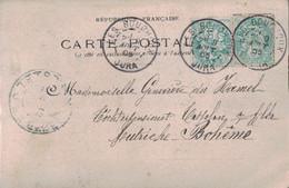 JURA - LES BOUCHOUX - 9-8-1905 - TYPE BLANC - CARTE POSTALE POUR LA BOHEME - AUTRICHE - CARTE PHOTO LES BOUCHOUX - RARE. - 1877-1920: Semi Modern Period