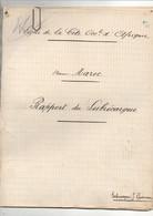 """Rapport Du Subrécargue J. Gueneau Vapeur """"Maroc"""" Ligne Côte Occidentale D'Afrique Années 1910-20 - Boten"""