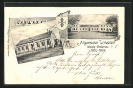 AK Leipzig-Lindenau, Allgemeiner Turnverein Mit Vereinshaus Und Turnhalle, Wappen - Leipzig
