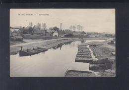 Belgien AK Wevelghem Leieboorden 1918 - Wevelgem
