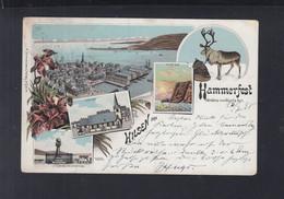 Norwegen Norway Lithographie Hammerfest 1898 - Norvegia